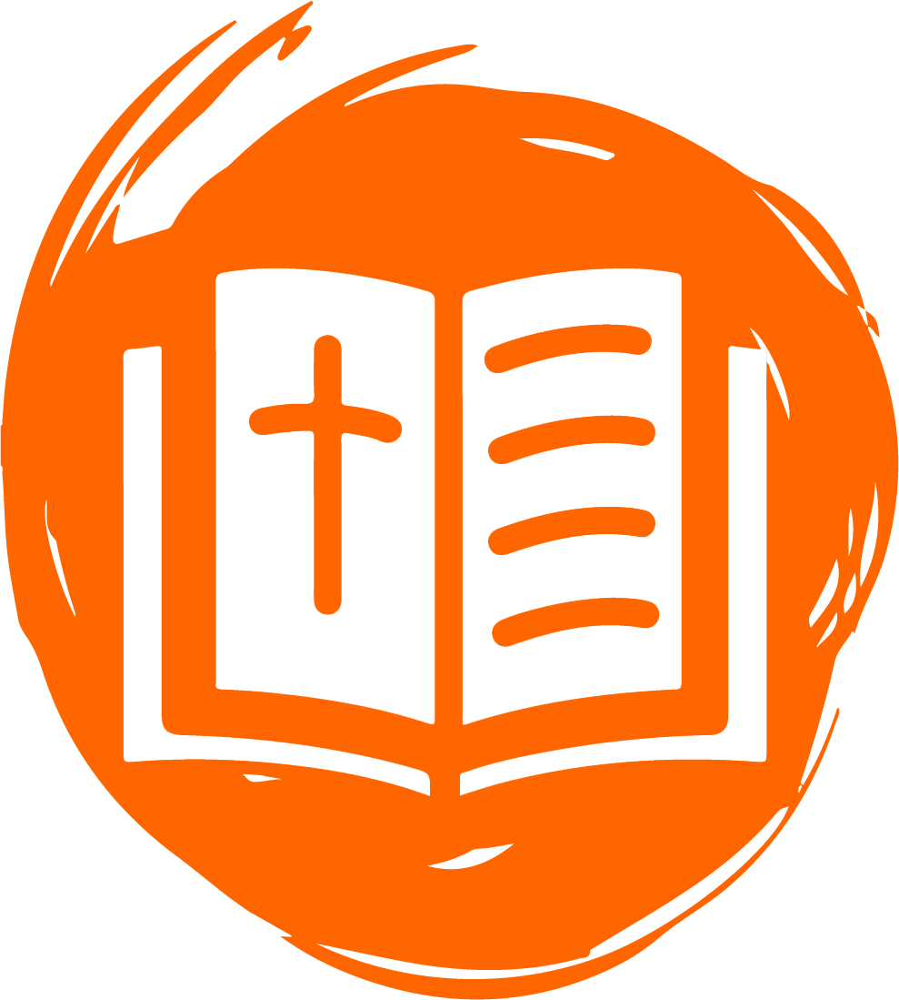 Bible icon on orange background